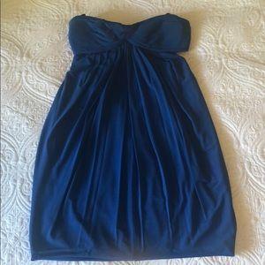 Fun and flirty strapless dress blue BCBG dress